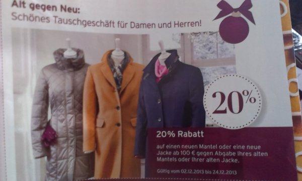 Karstadt Mantel / Jacken Alt gegen Neu Aktion