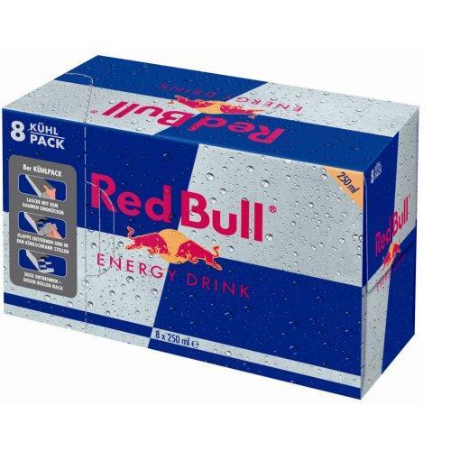 Red Bull 8er-Pack für 7,77 + 2€ Pfand + aktuelle Gratisartikel zum mitbestellen