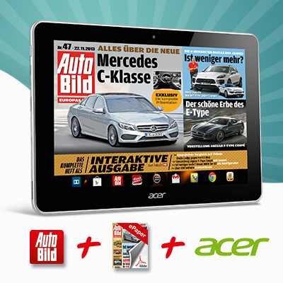 Acer Iconia A3 16 GB Wifi mit verschiedenen Zeitungen als E Paper im Lesershop24