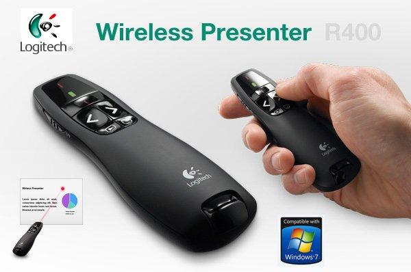 Logitech Wireless Presenter R400 (fast 12,- € / 35% günstiger!)
