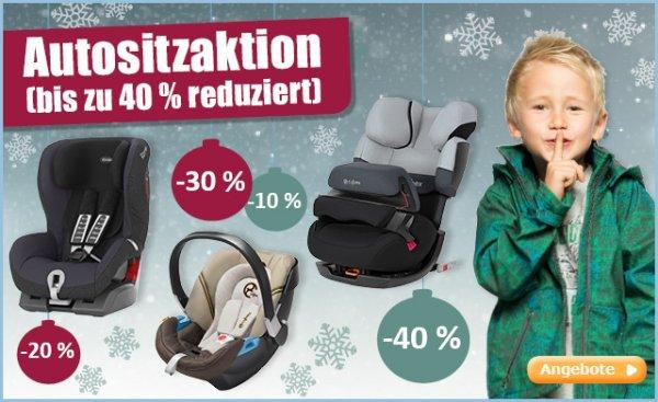 Autositz-Aktion bei babymarkt.de (auf Römer, Maxi Cosi, Cybex u.v.m.)
