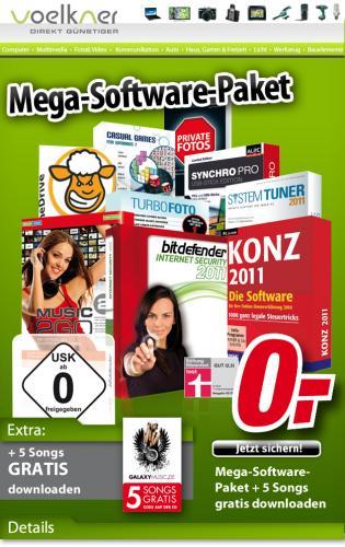 [VOELKNER] Mega Softwarepaket geschenkt (Home Security Suite) + 5 Songs gratis downloaden, mit Newsletterneuanmeldung und MBW = 0,01 EUR