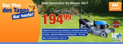 Güde (Benzin-) Rasenmäher Big Wheeler 460 P  mit Radantrieb bei PLUS-online