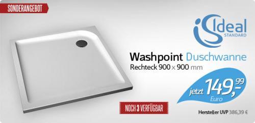 designer-badshop.de | Ideal Standard Washpoint Duschwanne 149,99€ statt 386,39€