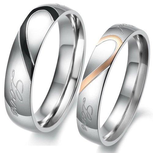 Justeel Herren Größe 62 (19.7) oder Damen Größe 57 (18.1) Edelstahl Ring [Preisfehler?]