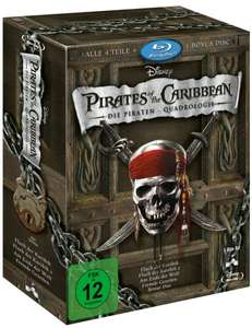 Pirates of the Caribbean - Die Piraten-Quadrologie (5 Blu-Rays) [Blu-ray] für 20,99 Amazon