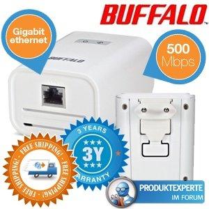 [ibood] Duopack Buffalo HomeAV 500Mbit Powerline-Adapter 29,95€