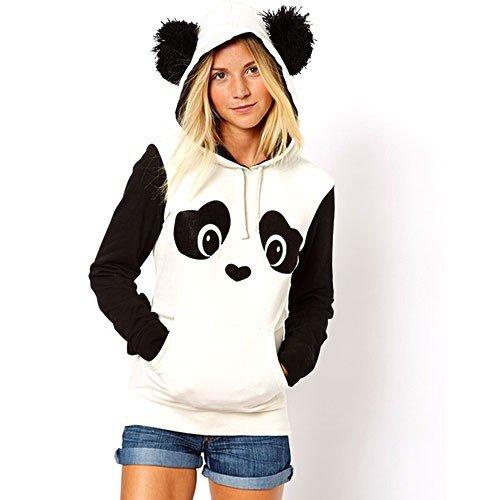 Baumwolle Sweatshirt mit Kapuze in Figur von Panda für 27,24€
