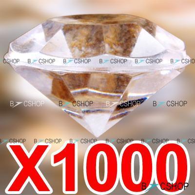 1000 Acryldiamanten für Tischdeko etc