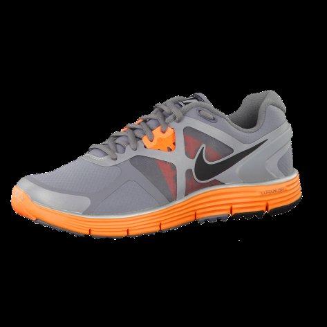 Nike LunarGlide+ 3 Shield - grau / orange bei cortexpower.de - Kostenloser Versand