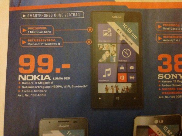 Nokia Lumia 520 - Saturn online/offline
