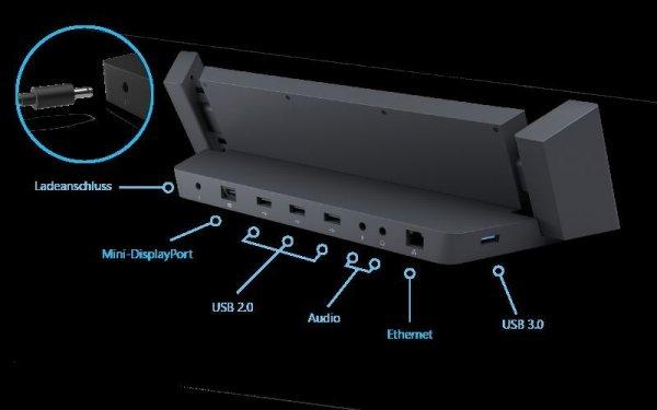 Docking Station für Surface Pro & Surface Pro 2 in Saturn Hamburg abholen für 179,10 EUR oder liefern lassen + 4,99 EUR