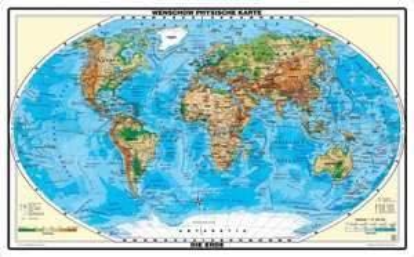 XXL Weltkarte (1,53 Meter) - Relief Weltkarte 9,97€ (+3€ Versand)