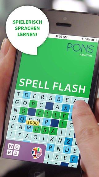 PONS SpellFlash für 0,89 Euro statt 1,79 Euro für iOS und Android