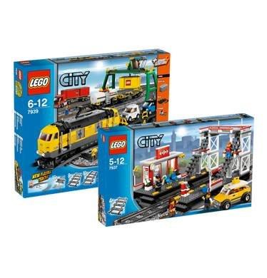 LEGO City Set Güterzug 7939 & Bahnhof 7937