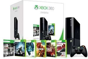 Xbox 360 E 250GB + 6 Spiele + 20für 243€ @Amazon.co.uk