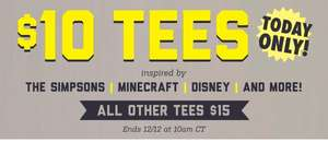 Threadless - $10 SALE auf DISNEY/MARVEL/MINECRAFT/SESAM STRASSE