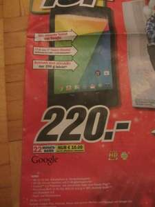 Media Markt  Nexus7 16GB Wifi (2013)