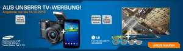 SAMSUNG NX 1100+20-50mm schwarz+Galaxy Tab 3 7.0 8GB schwarz Saturn 349€