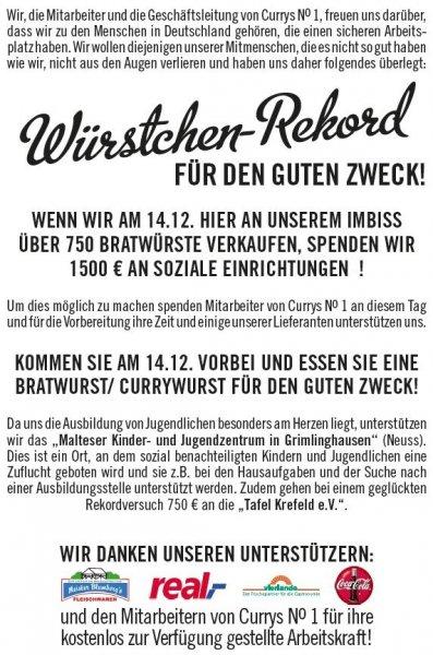 Ein Deal für die Gesellschaft [Lokal Krefeld]: Voller Bauch und Gutes tun - am 14.12