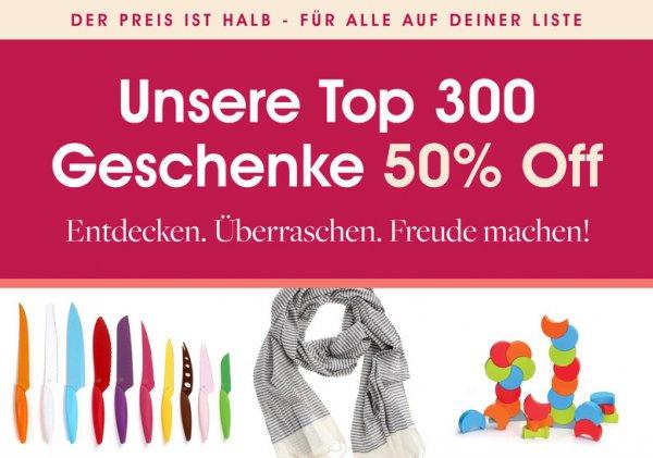 FAB: 50% Rabatt auf die Top 300 Produkte