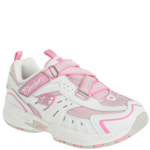 Für Prinzessinnen : Sketchers Kids' Trainers - White/Pink @ Allsole Gr. 20 - 26 für £9.99