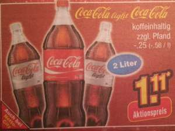 {Netto o.T Bundesweit?} Coca-Cola 2l 1,11€