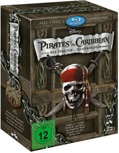 Fluch der Karibik 1-4 Bluray Box (22,10 Euro) [Buch.de]