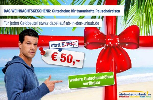 Bis zu 50% Rabatt auf Hotelbuchung bei Ab in den Urlaub