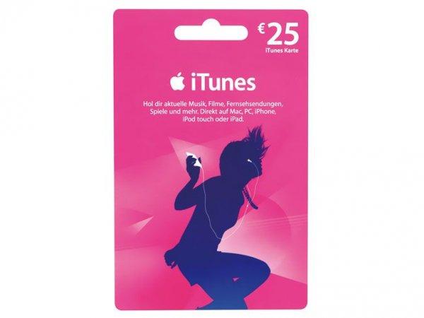 Lidl bundesweit: 25-Euro iTunes-Karte für 20 Euro (20% Rabatt)