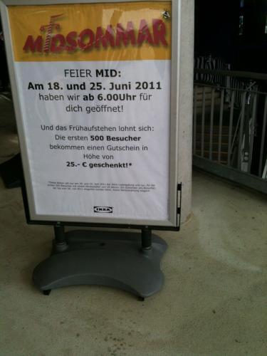 [LOKAL] IKEA MIDSOMMAR IN LUDWIGSBURG & KOBLENZ - 25,-- EUR GUTSCHEIN FÜR DIE ERSTEN 500 BESUCHER