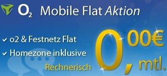o2-Mobile-Flat+Internet Flat Für 0,00€ kostenlose