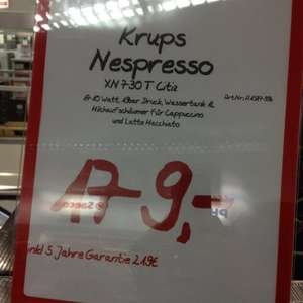 [Lokal] MM Köln Hohe Str. - Nespresso Citiz & Milk Krups XN730T