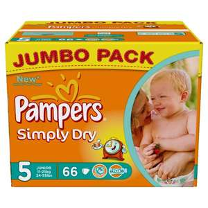 2 x 66 Pampers Simply Dry Gr. 5 bei Amazon für 20.47€