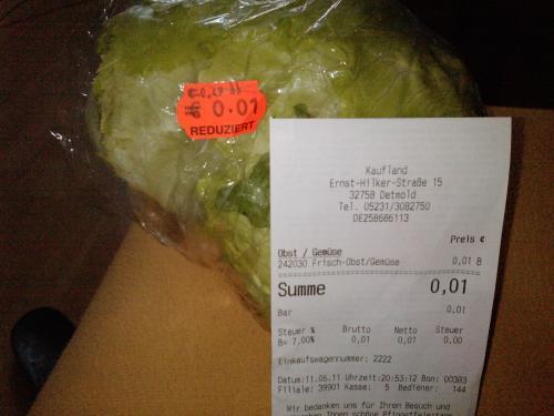 Salat im Kaufland (lokal)