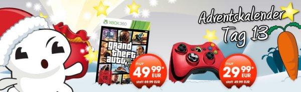 Gamestop online / offline: 13. Tag Xbox 360 Controller Chrome für 29,99 €, (GTA 5 49,99 € Vollständigkeit halber)