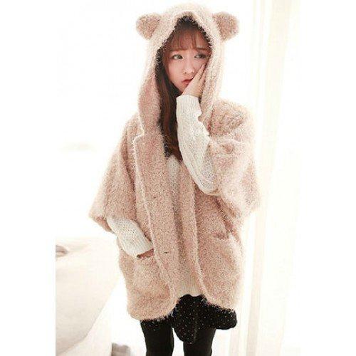 Damen Mantel Jacke mit Kapuze in Form von Bären für 33,74€ statt 44,99€