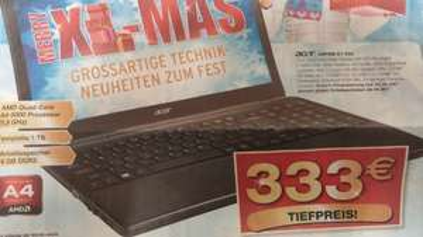 "[Lokal Staples] Acer Aspire E1-522, 15,6"", AMD A4-5000, 1TB HDD, 4GB Ram, Win8"
