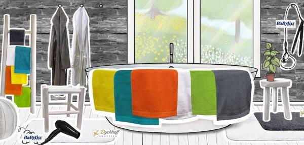 Dyckhoff Badetextilien (Handtücher & Duschtücher) ab 2,99 Euro. Bis zu -60% Rabatt & keine Versandkosten.