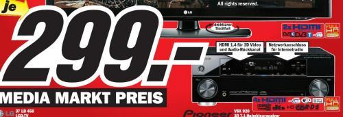 (Offline) AV-Receiver Pioneer VSX-920 für 299 EUR @ Mediamärkte Berlin/Brandenburg