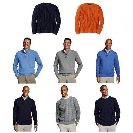 LANDS´ End Herren Pullover oder Troyer Sweatshirt für je 14,95€ bei ebay