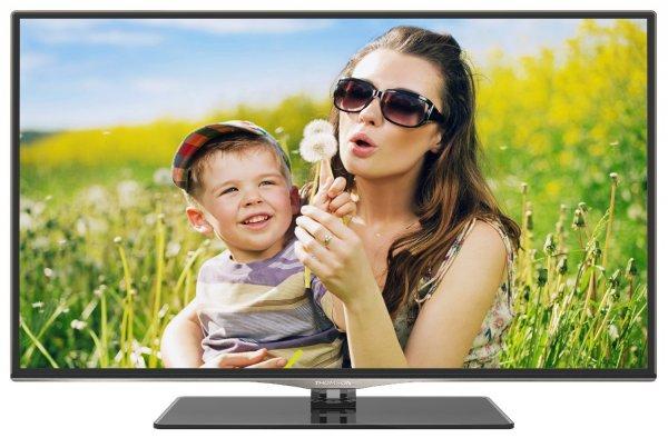 Thomson 50FW5565 126 cm (50 Zoll) 3D LED-Backlight-Fernseher, EEK A+ (Full-HD, 100Hz CMI, DVB-C/S/T, Smart TV, WiFi built-in, CI+, Hotelmode, inkl. Glasfuß) schwarz