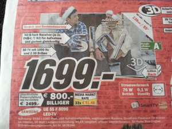 [Lokal MM NB] Samsung UE55F8090 für 1699€