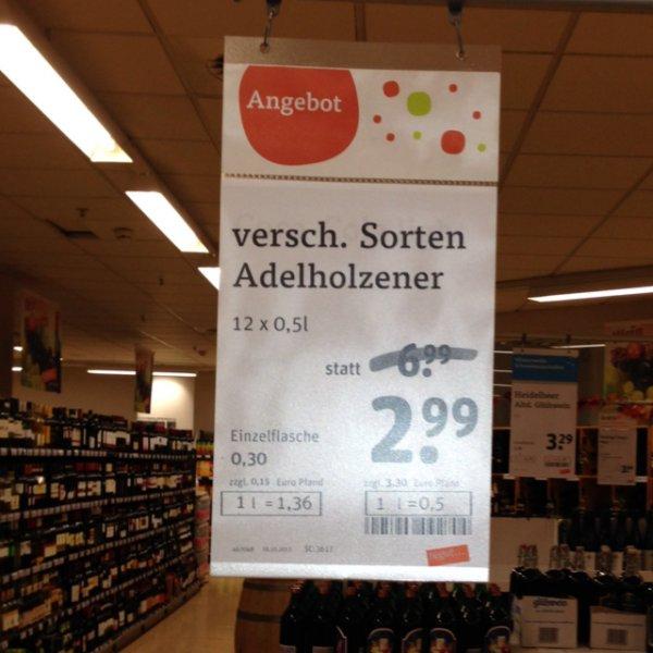 [lokal Göttingen] Adelholzener Schorlen / Eistee Kasten 2,99 statt 6,99 (Einzelflasche 0,30€)