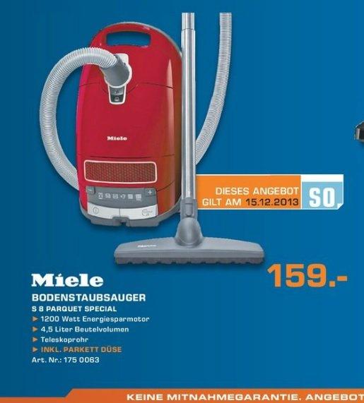 Miele S8 Parquet Special Staubsauger 159€ [Saturn Oberhausen] Lokal