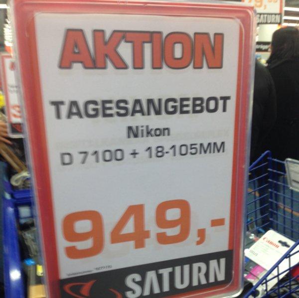 Nikon D7100 18-105mm VR,949€ lokal saturn stuttgart