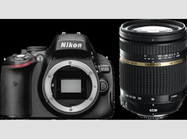 Nikon D5100 + Tamron 18-270 mm PZD + Tasche + UV Filter + HDMI Kabel @mediamarkt