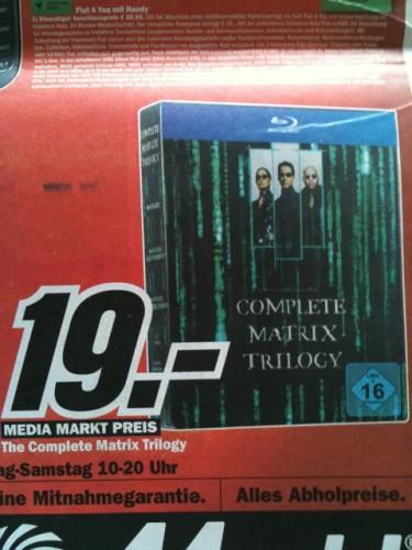 Matrix Trilogie Bluray LOKAL @ MediaMarkt Freiburg