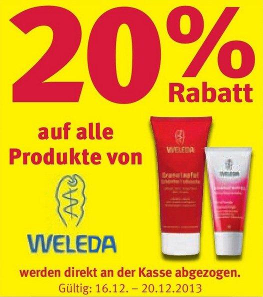 [Rossmann/Lokal] 20% auf alle Weleda Produkte (und noch 20% Artikel)