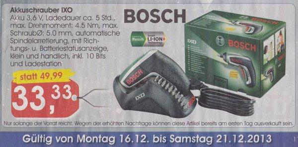 Bosch IXO 3,6V bei Minipreis für 33,33 €